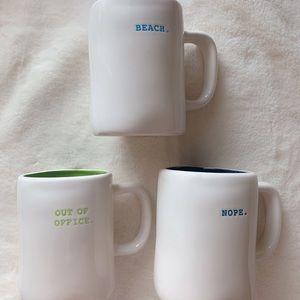 Rae Dunn mug lot beach nope out of office